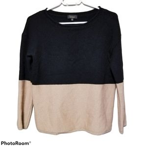 T.Babaton Colorblock Wool & Cashmere Sweater